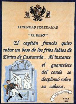 """Leyenda """"el Beso"""" de Toledo"""