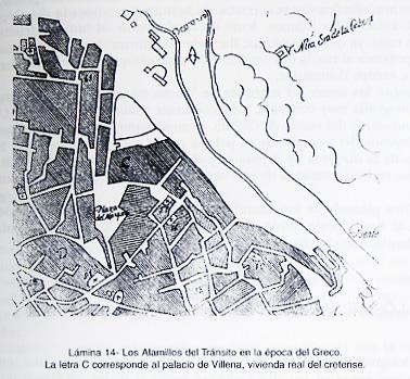 Ubicación del palacio del marqués de Villena