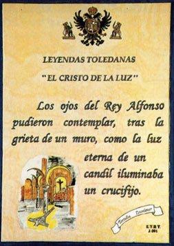 El Cristo de la Luz, placa de cerámica