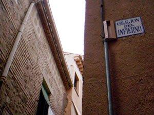 Callejón del Infierno, Ruta nocturna Toledo