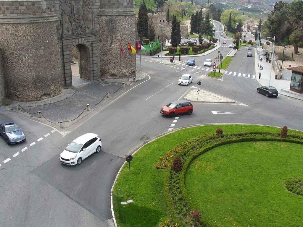 Webcam en la Puerta de Bisagra, 27/03/2021