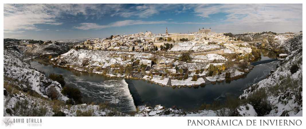 Nieve en Toledo, panorámica de David Utrilla