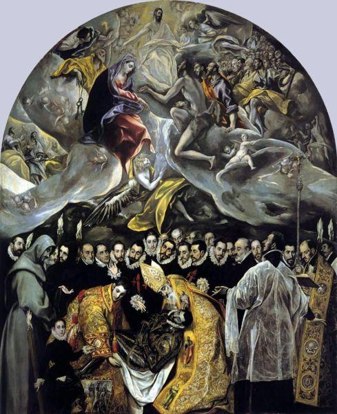 El Entierro del Señor de Orgaz, El Greco (Wikimedia)