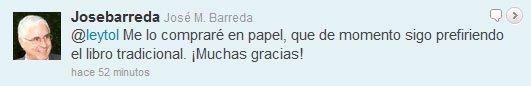Tweet José Mª Barreda