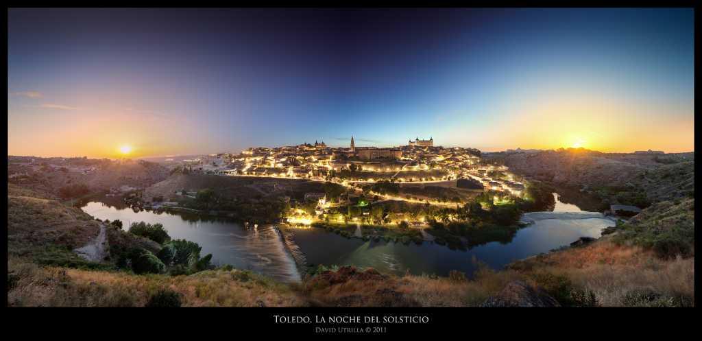 La noche del solsticio de verano en Toledo, por David Utrilla