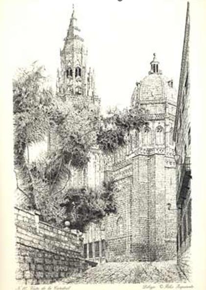 Catedral de Toledo a plumilla