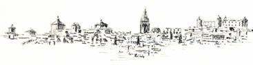 Panorámica de Toledo a plumilla