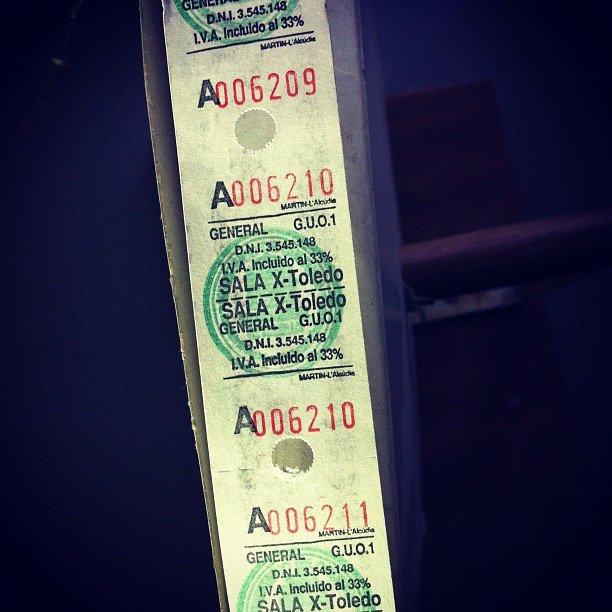Cine Alcántara en Toledo, una entrada cuando era Sala X