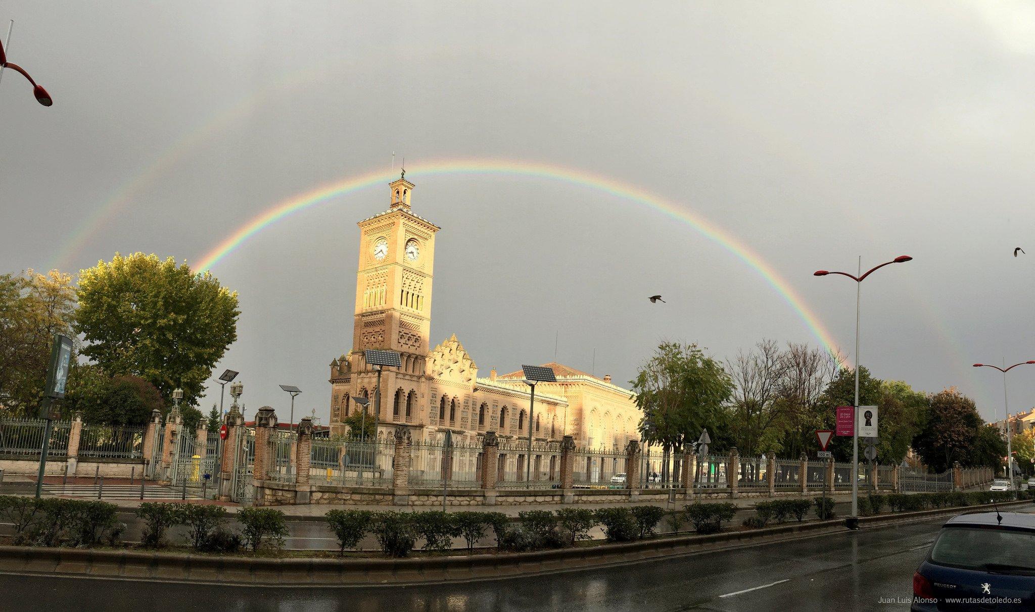 Arco Iris sobre estación AVE Toledo