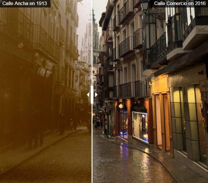 Calle Comercio, Toledo, 100 años de diferencia
