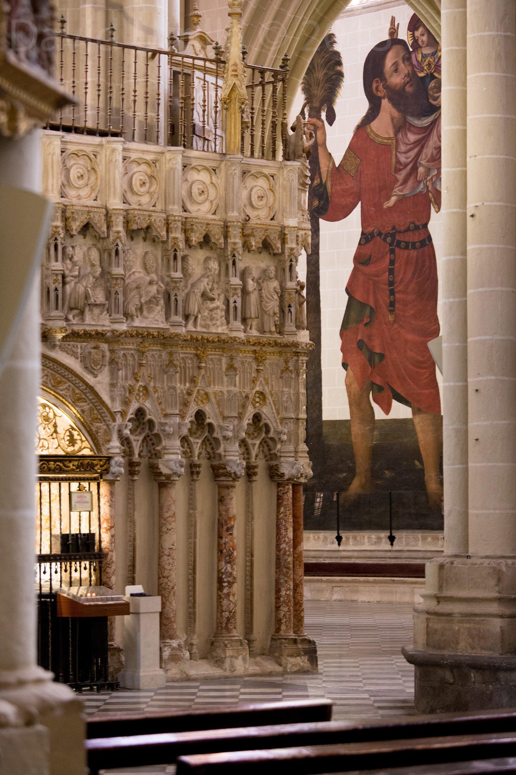 Pintura al fresco de Gabriel Ruedas, Catedral de Toledo, 1638. Dimensiones aproximadas: 11 x 4,5 m.