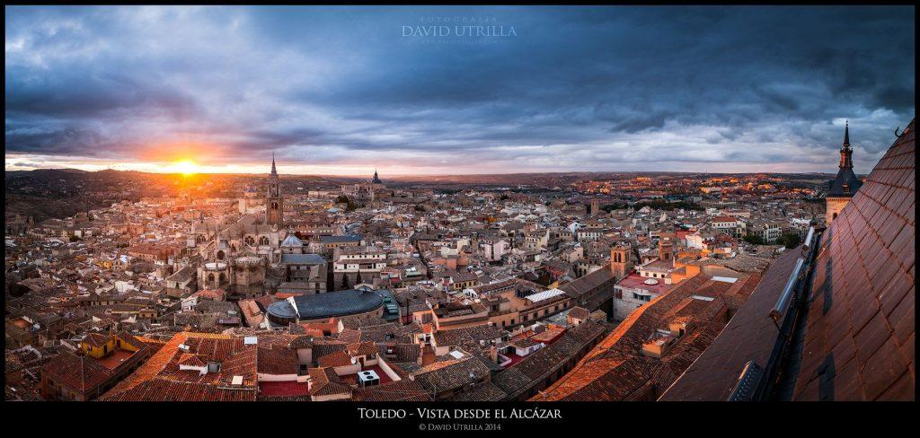 Panorámica desde el Alcázar de Toledo por David Utrilla