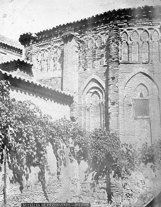 Convento de Santa Fe, ábside exterior de la capilla de Santa Fe. Fuente: Archivo Municipal de Toledo. Fondo Casiano Alguacil.