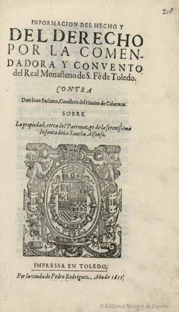 Papeles referentes al convento de Santa Fe de Toledo y al Monasterio de Santa Eufemia de Cozuelos (Palencia), 1753. Manuscrito. ©Biblioteca Nacional, Mss. 13063.