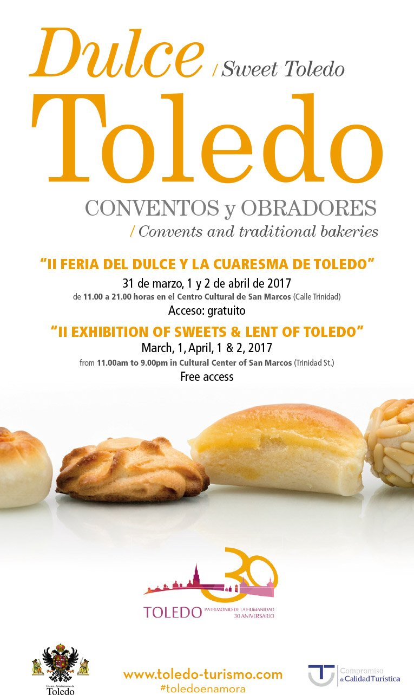 Cartel II feria del dulce de Toledo 2017