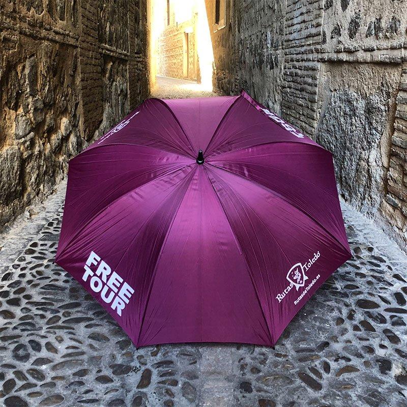 Free Tour Toledo - paraguas morado