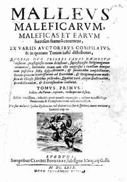 Portada de Malleus Maleficarum. Brujas y Hechiceras del Toledo Mágico