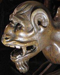 Cabeza de diablo en el Coro de la Catedral de Toledo