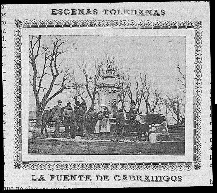 Fuente de Cabrahigos. Periódico La voz de la juventud de 8 de julio de 1904