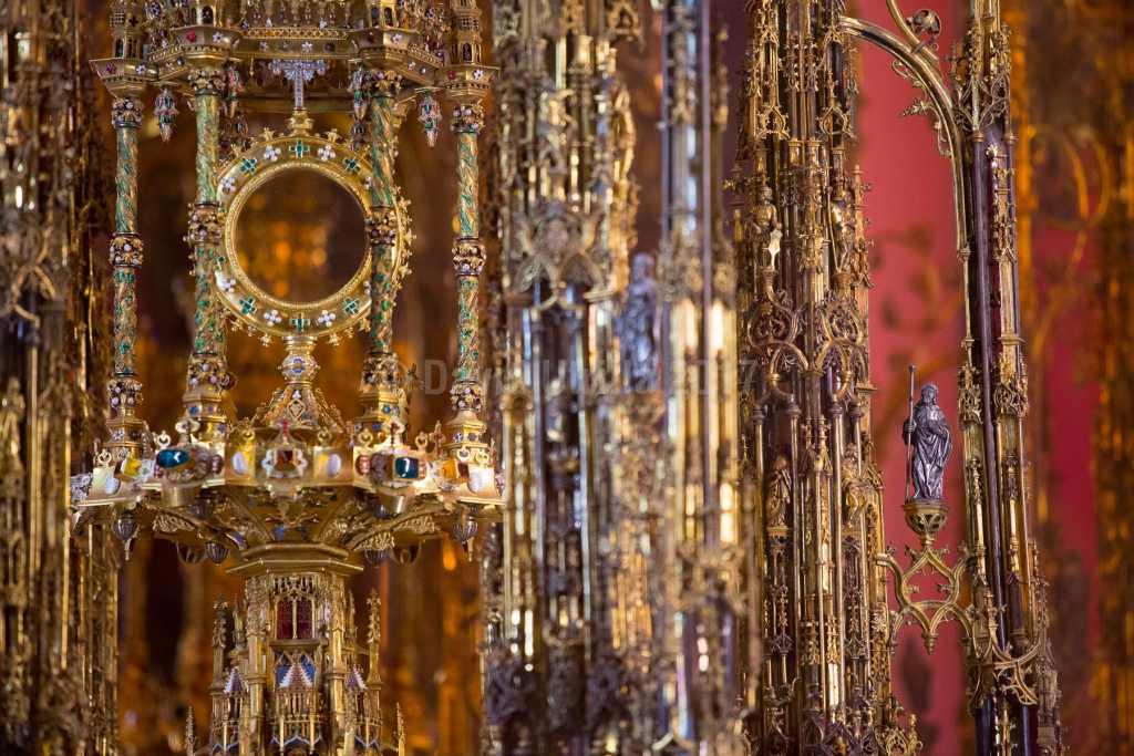 Custodia de la Catedral de Toledo, detalle, por David Utrilla