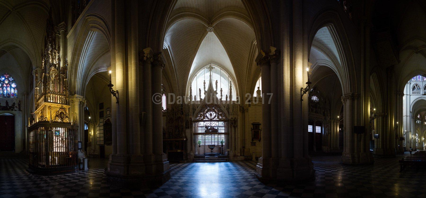 Panorámica interior de la Catedral de Toledo