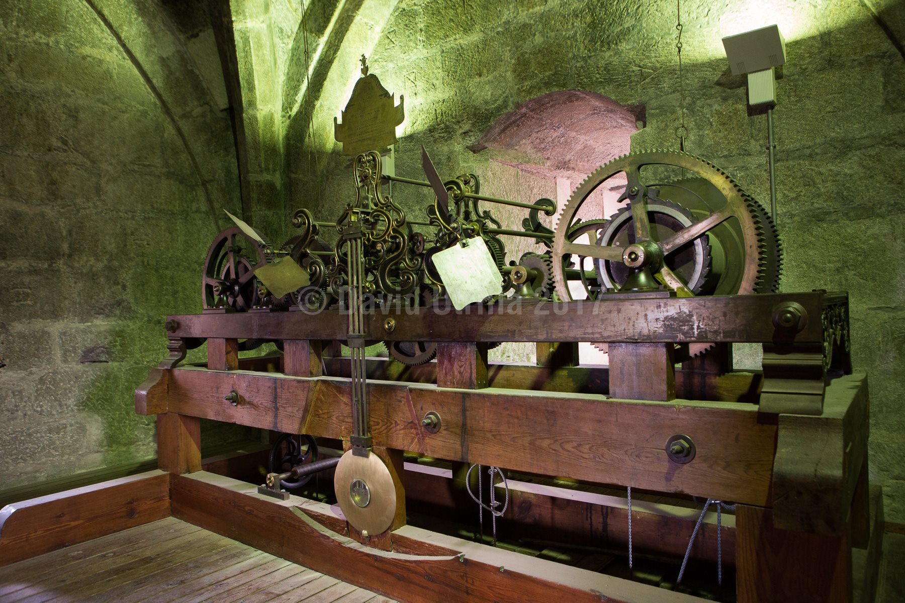 Mecanismo del reloj de la torre de la Catedral de Toledo