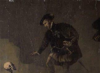 Detalle del citado cuadro de Antonio Moro donde apreciamos al II Marqués de las Navas en pleno debate con un fantasma. ©Fundación Casa Ducal de Medinaceli.