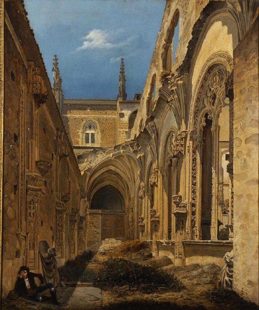 Cecilio Pizarro. Ruinas de San Juan de los Reyes de Toledo. Óleo sobre lienzo. 80 x 65,7 cm. 1846. Museo del Romanticismo de Madrid