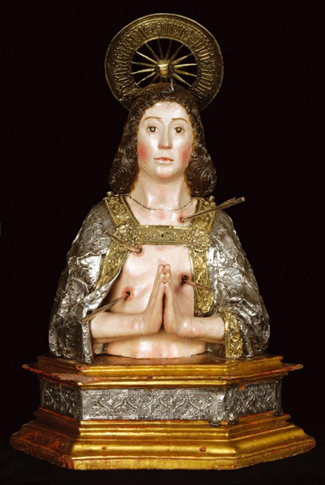 Busto relicario de San Sebastián. Catedral de Toledo