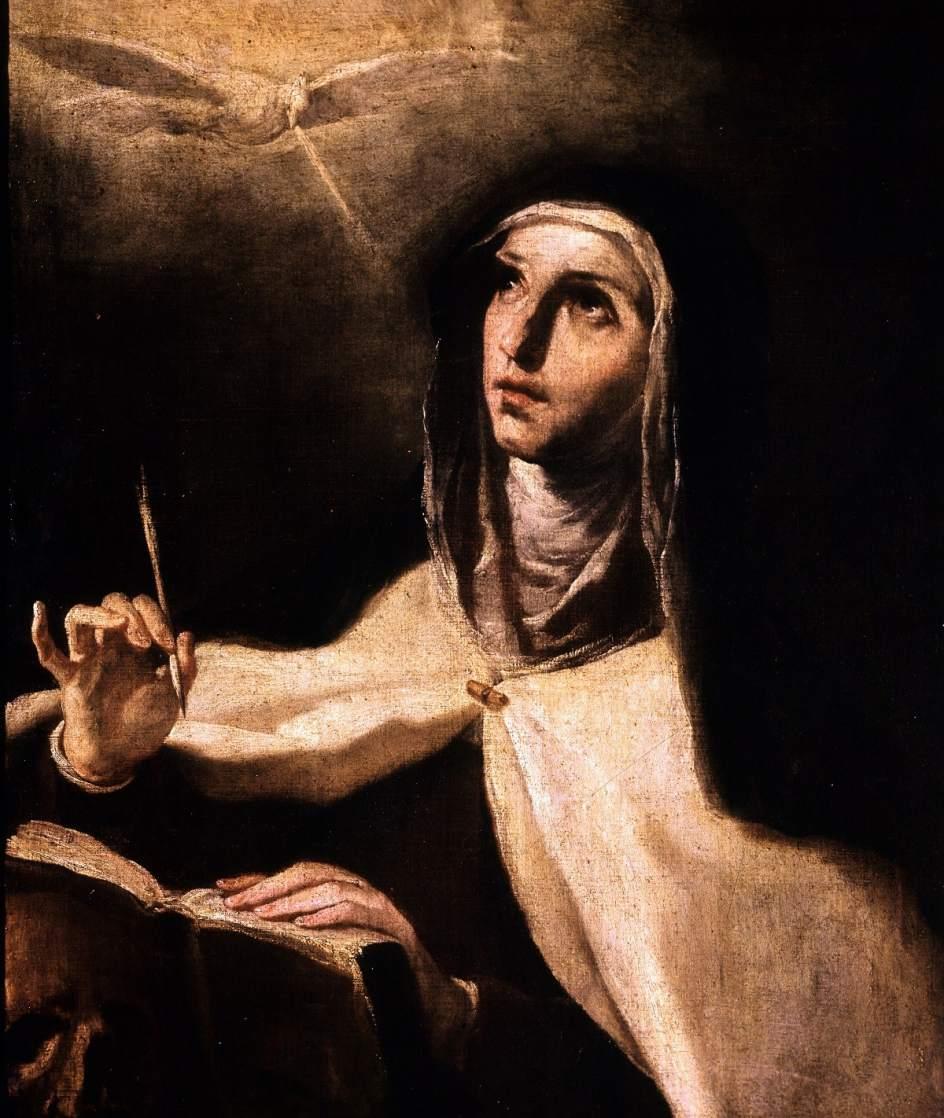 Santa Teresa de Jesús. Atribuido a seguidor de El Greco. Sta. Teresa de Jesús. Óleo sobre lienzo.