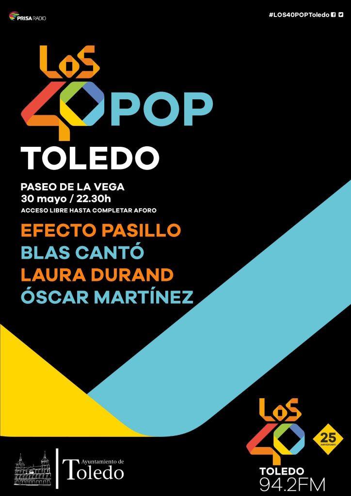 Los 40Pop Corpus Toledo 2018, cartel