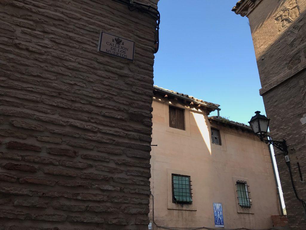 Callejón de los Muertos, en Toledo