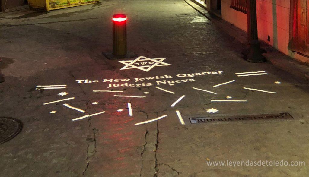 Iluminación LED marcando los límites de la Judería de Toledo