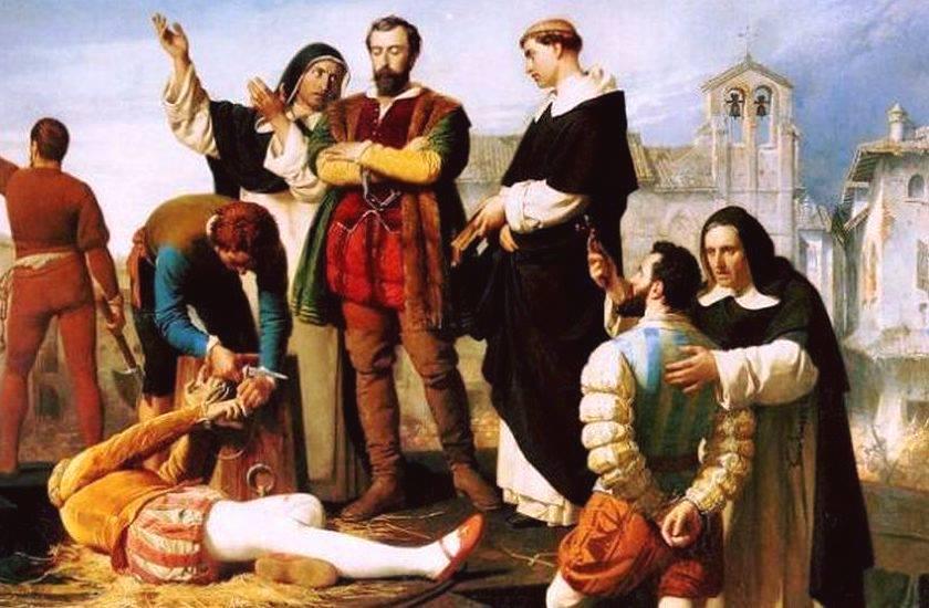 COMUNEROS DE CASTILLA, AJUSTICIADOS EN VILLALAR (Valladolid) Lienzo de Antonio Gisbert. (Orgaz)