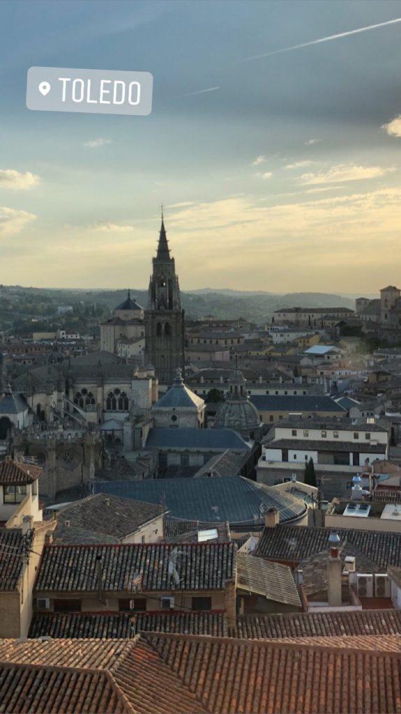 La catedral de Toledo, desde la Biblioteca de Castilla-La Mancha