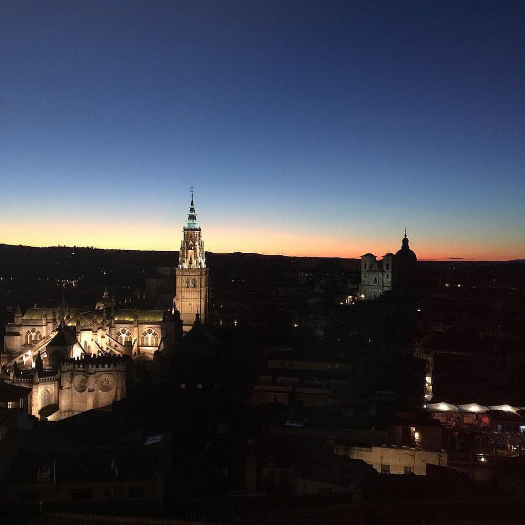 Vistas desde la Biblioteca del Alcázar de Toledo