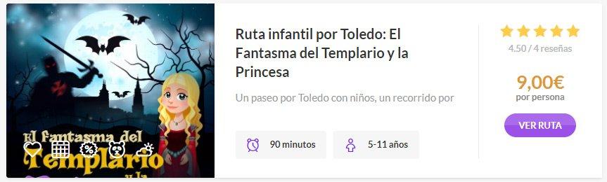 Ruta infantil el Fantasma del Templario y la Princesa en Rutas de Toledo