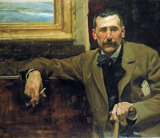 Galdós pintado a sus 51 años de edad por el pintor postimpresionista español Joaquín Sorolla. Wikipedia