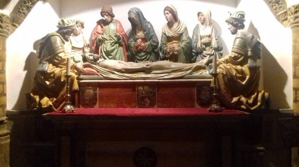 Cripta de la Catedral Primada. El Santo Entierro de Cristo. Diego Copín de Holanda ©SICP Foto: Carlos Dueñas Rey.