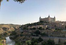 Toledo, vista desde el Castillo de San Servando. Alcázar