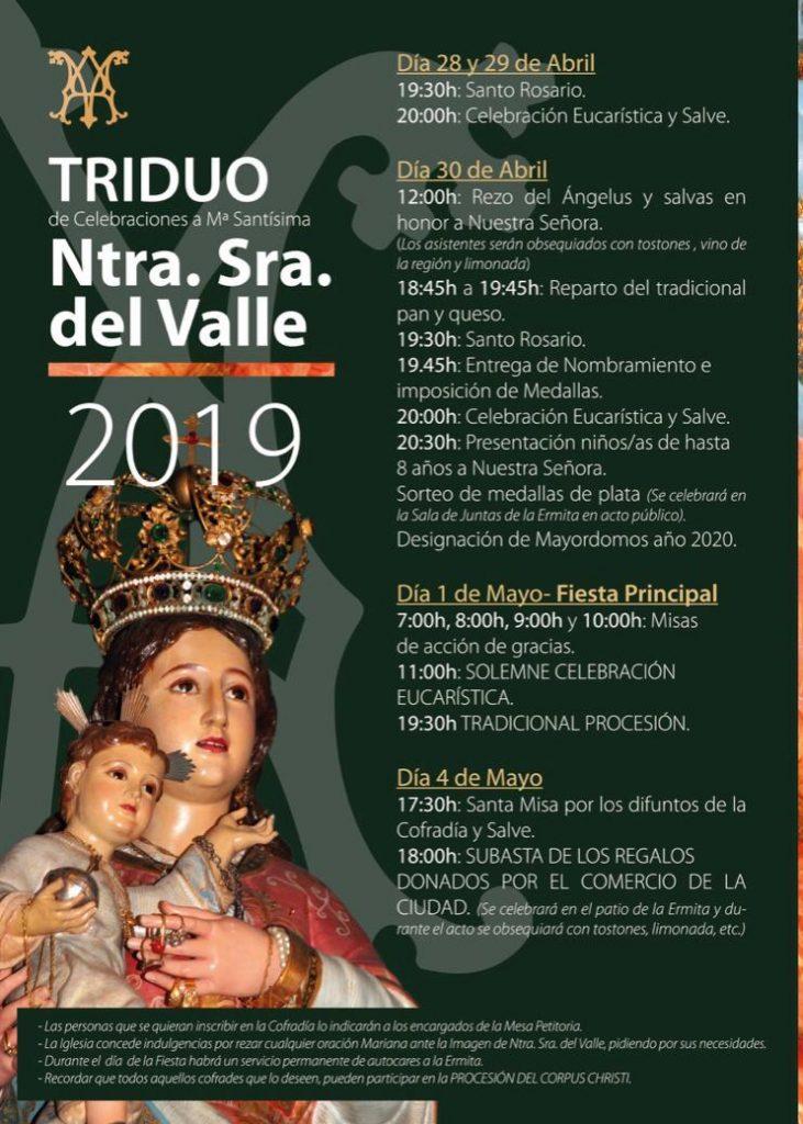 Programa Virgen del Valle 2019 en Toledo