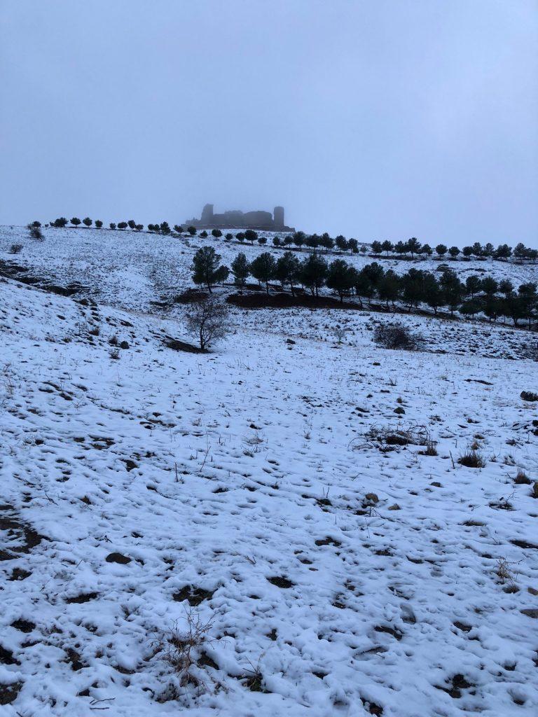 Castillo de Almonacid nevado