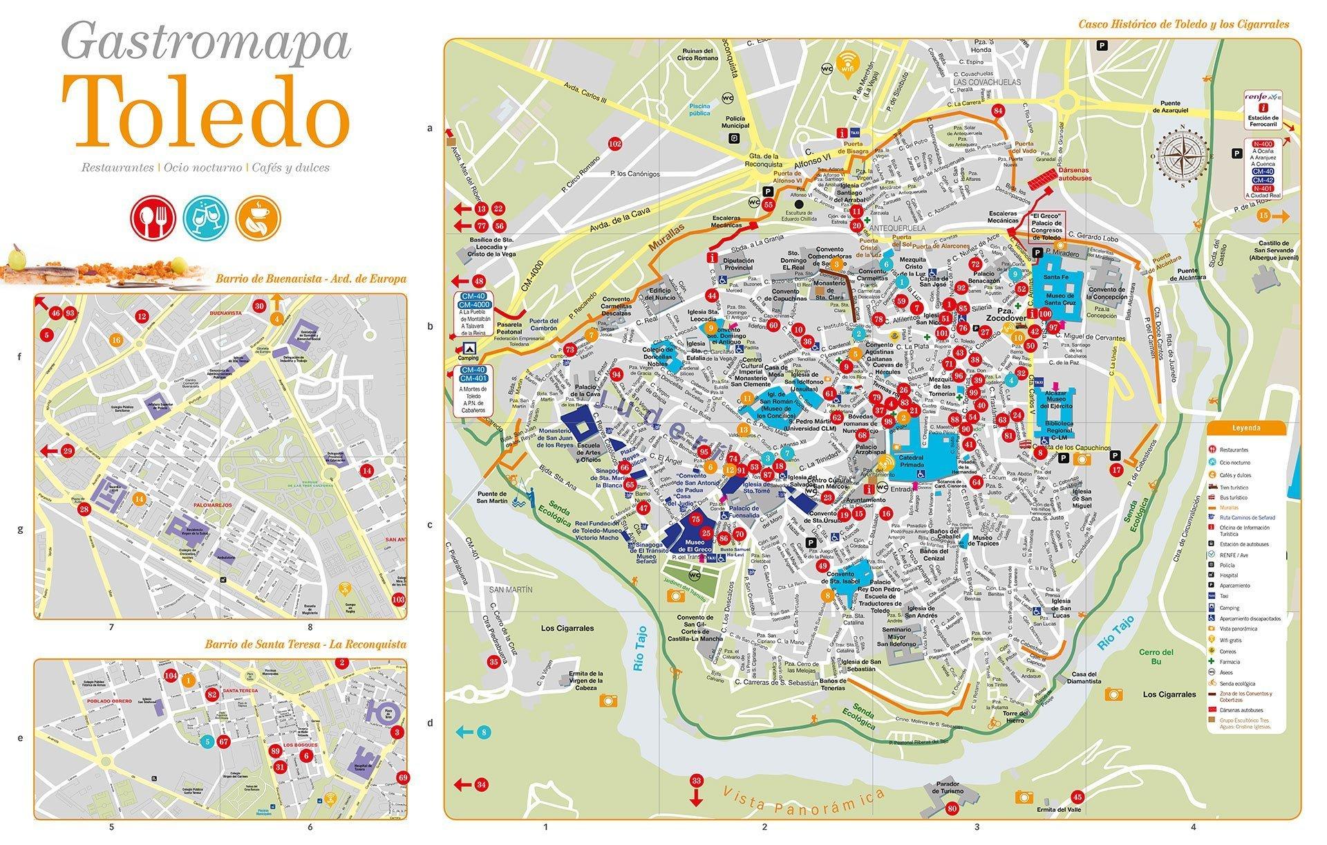 Mapa Provincia De Toledo Turismo.Mapa Turistico De Toledo 2019 Leyendas De Toledo