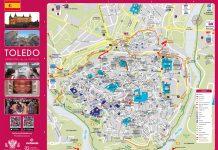 Plano callejero turístico de Toledo 2019