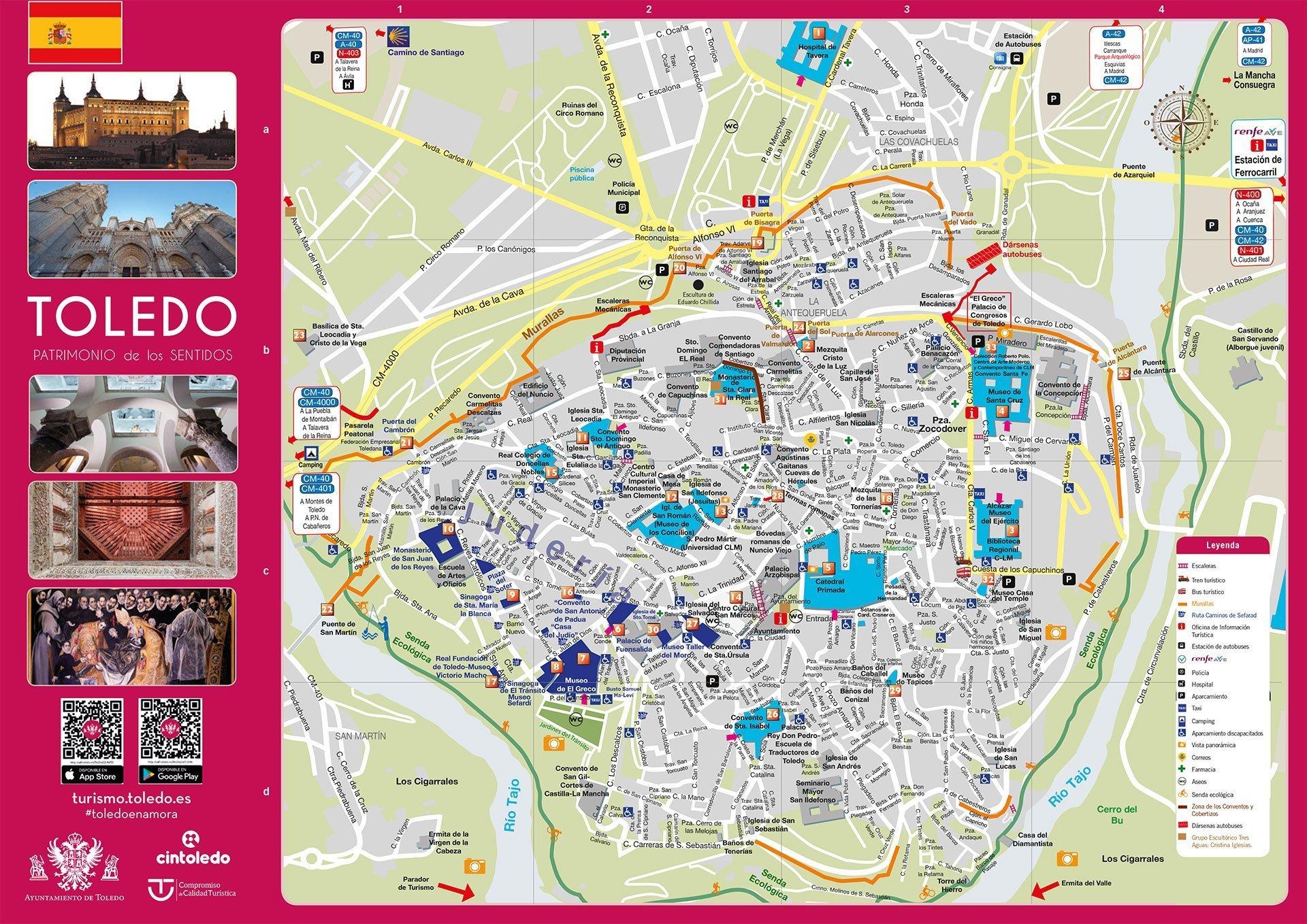 Mapa Turistico De Toledo 2020 Leyendas De Toledo