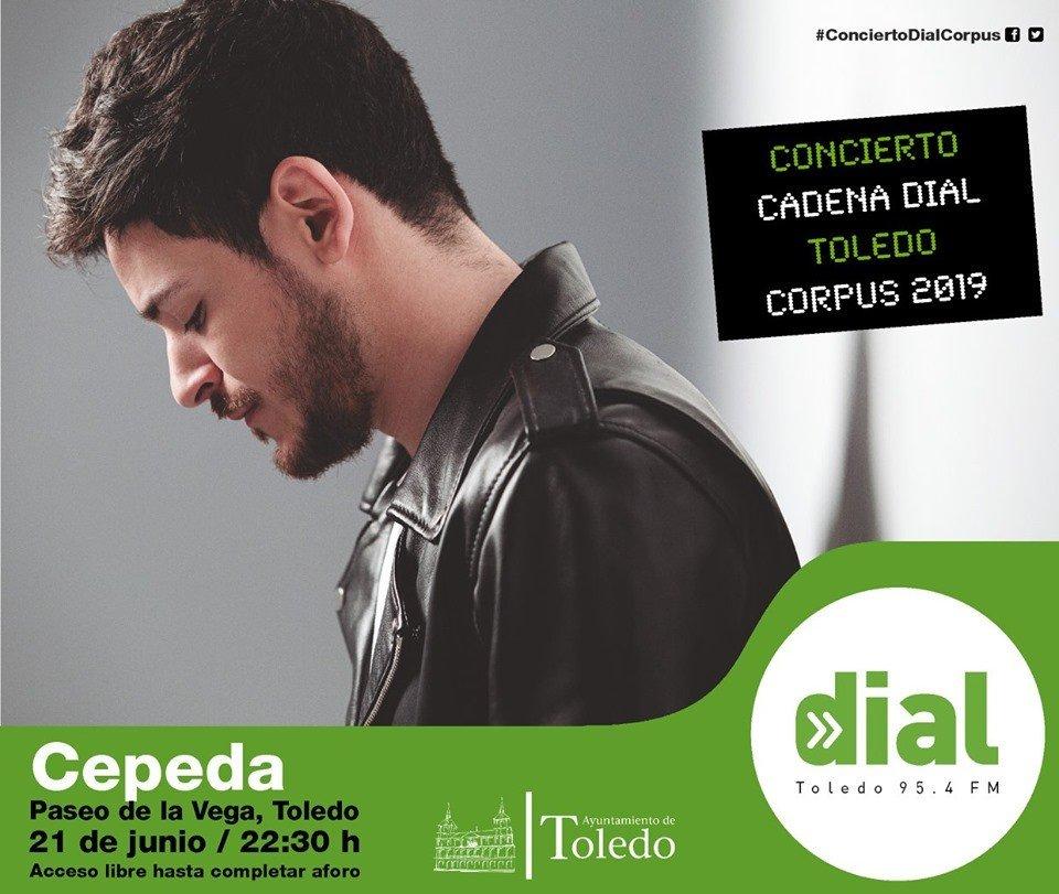 Concierto Cadena Dial Toledo 2019. 21 de junio, Paseo de la Vega, gratuito.
