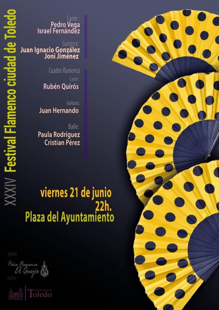 XXXIV Festival Flamenco ciudad de Toledo. Viernes 21 de junio a las 22h.