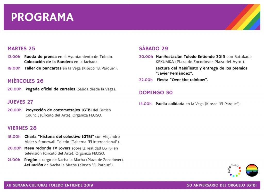 "Programa ""Toledo entiende"" 2019"