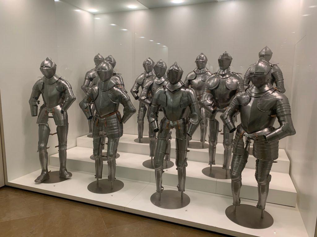 Armaduras en el Museo del Ejército de Toledo
