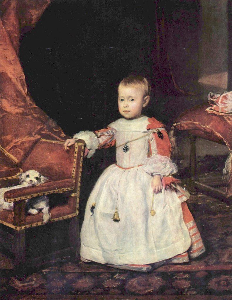 El príncipe Felipe Próspero, lienzo de Diego Velázquez